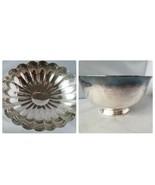 Reed & Barton Vintage Silver Plate Vintage Large Seashell & Medium Mixin... - $66.41