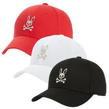 Psycho Bunny Men's Cotton Heritage Strapback Sports Baseball Cap Hat