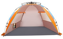 Oileus X-Large 4 Person Beach Tent Sun Shelter - Portable Sun Shade Inst... - $85.68 CAD