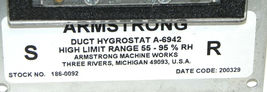 ARMSTRONG A-6942 DUCT HYGROSTAT A6942 image 4