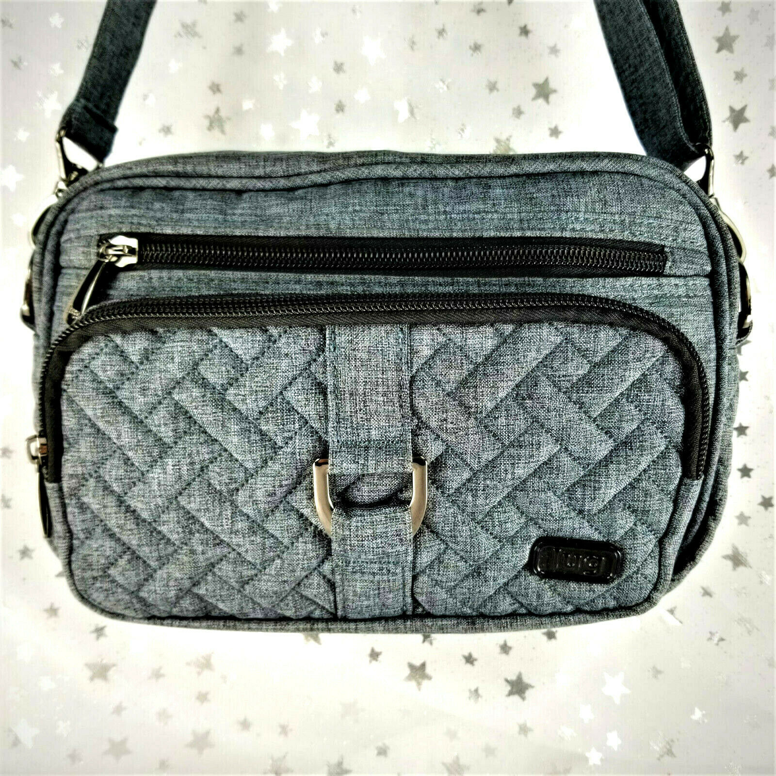 Primary image for Lug CAROUSEL Crossbody Handbag Tote with Long Strap Handle - Heather Gray - NWOT