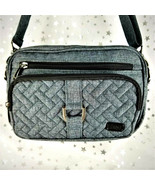 Lug CAROUSEL Crossbody Handbag Tote with Long Strap Handle - Heather Gra... - $51.84