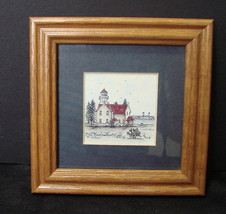 2 Mary B. Frey Michigan Lighthouse Prints (Small Framed) Open Editions - $11.99