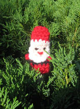 Santa Claus crochet puppet finger small marionette toys 6 cm 2,4 inch ti... - $2.50