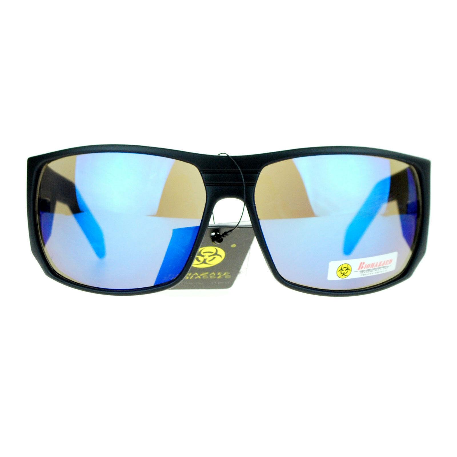 Biohazard Mens Fashion Sunglasses Oversized Thick Rectangular Frame
