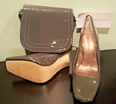 Women's Nine West Grey 7 ½ M Shoes & Small Bag - $34.65