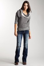 SILVER JEANS Sale Low Rise Frances Destructed Dark Bootcut Stretch Jean ... - $54.97