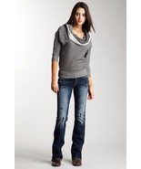 SILVER JEANS Sale Low Rise Frances Destructed Dark Bootcut Stretch Jean ... - $54.97
