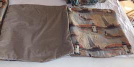 Pair of Sailboat Lighthouse Decorative Print Throw Pillows  17 x 17 - $49.95