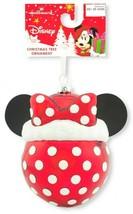 Hallmark Minnie Mouse Disney Blown Glass Ball Christmas Ornament NEW w Tag - $9.99
