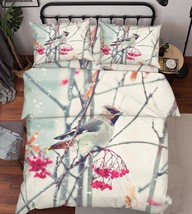 3D Tree Bird 023 Bed Pillowcases Quilt Duvet Cover Set Single Queen King Size AU - $64.32+