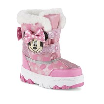 NEW NWT Toddler Girls Disney Minnie Mouse Snow Boots Size 6 7 8 9 10 11 ... - $25.00