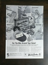 Vintage 1954 Black & Decker Electric Tool Chest Tools Full Page Original Ad - $6.64