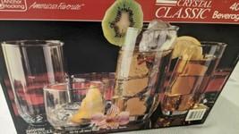Anchor Hocking Crystal Classic 40 Piece Beverage Set   L2606 - $98.01