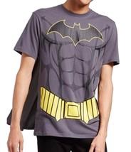 Men's DC Comics Batman Muscle Costume T Shirt With Detachable Cape Grey - $10.49