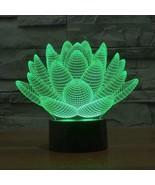 Lotus 3D Illusion Lamp - $27.99