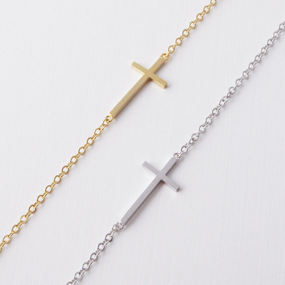 Classic Big Cross Braclet Charm Silver Gold Color Bracelets For Women Girls Men