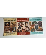 3 Cut N Paint Craft Instruction Books Vintage Christmas Samplers Country... - $9.99