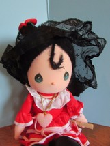 "Precious Moments SPAIN Doll the worlds children black yarn  Hair 13""  - $22.18"