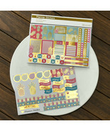 2pcs☆ Happy Planner Stickers, Gold Foil Pineapple, Tropical Summer Paper... - $10.78