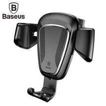 Baseus 360° Gravity Car Mount Air Vent Holder Stand for iPhone Samsung L... - $12.99