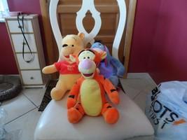 Set of 3 Disney 12 Plush - Pooh, Eeyore, Tigger NWOT - $20.00