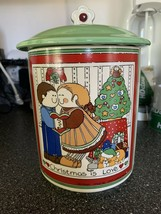 Enesco Christmas is Love Cookie Jar Container Susan Marie McChesney Rare... - $39.99