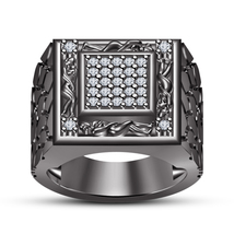 14k Black Gold Finish 925 Silver White Sim Diamond Kama Sutra Ring Free Shipping - $133.80