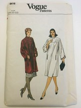 Vogue Sewing Pattern 8416 Misses Dress Tunic Skirt Sz 18 20 22 Vintage U... - $12.99