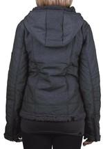 Bench Womens Black Swaggering Hooded Winter Jacket w Soft Fleece Lining BLKA1766 image 2