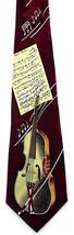 Viola Music Mens Necktie Violin Family Musical Instrument Musician Red N... - $12.82