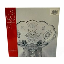 """Studio Nova Snowtime Frost Footed Bowl 9.75"""" New in Box - $14.92"""