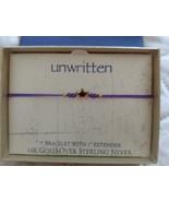 Unwritten 14K Gold over Sterling Silver Star  Bracelet Purple Rope Frien... - $16.65