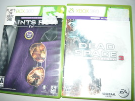 Saints Row: The Third 3 dead space 3 lot of 2 360 games xbox - $14.98