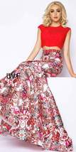 Cap Sleeve Kaleidoscope Print Two Piece Trumpet Dress by Mac Duggal - $478.39
