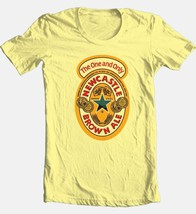 Newcastle Beer T-shirt Free Shipping 100% cotton graphic printed yellow tee image 2