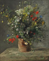 Flowers in a Vase Painting by Auguste Renoir Art Reproduction - $32.99+