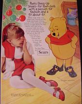 1970 Sears Disney Winnie The Pooh Dress Up Shoes Print Ad - $9.99