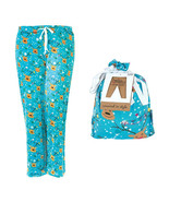 Hello Mello Holiday Blue Lounge Pants w/ Matching Giftable Tote -Large/X... - $28.00