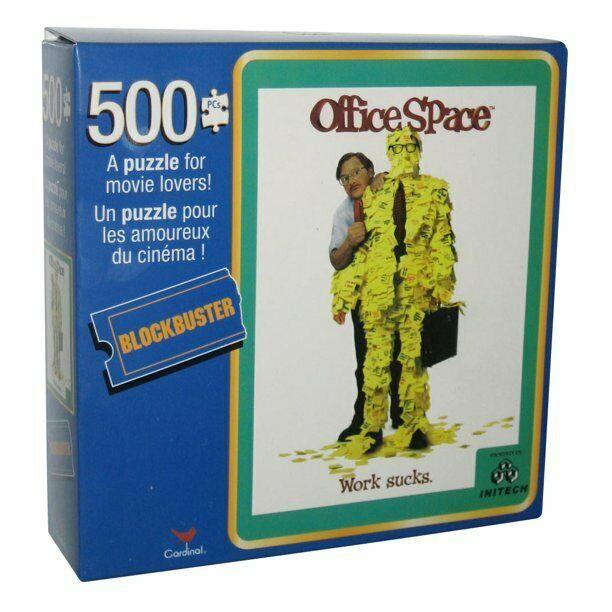 Office Space Movie Work Sucks 500 Piece Jigsaw Puzzle Game Blockbuster NEW!! - $11.36