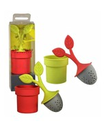 Silicon Tea Infuser Loose Leaf Teas ONE Green or Pink Looks Like a Potte... - $17.82