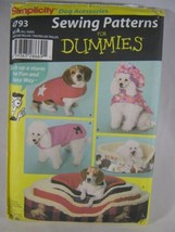 Simplicity 4793 S M L Dog Coats Bed Covers 4 Sizes - $6.43