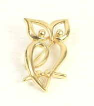 TRIFARI Owl Pin Brooch Gold Tone Open Abstract 1.5 inches Long Pristine - $11.29