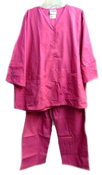 Landau Scrub Set Freesia 2XL V Neck Top Drawstrng Pants Women's Discontinued image 2