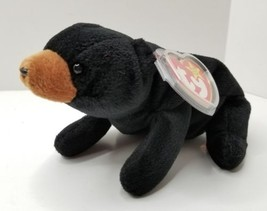 TY Beanie Baby BLACKIE the BEAR with tags - $10.95