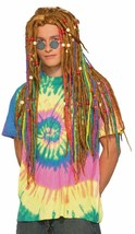 Forum Novelties Hippie Rainbow Dreadlocks Wig Halloween Costume Accessor... - £20.68 GBP