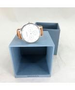 Skagen Anita Tan Leather Strap Stainless Steel Multifunction Watch 2449RD - $40.00