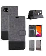 For Google Pixel 4 XL 4 3A XL 3 XL 2 XL Luxury Canvas Leather Wallet Cas... - $61.50