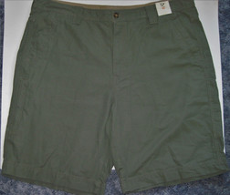 NWT Outdoor Life Cargo Cliff Shorts Olive Green Mens 42 flat front 6 poc... - $27.72