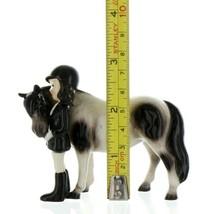 Hagen Renaker Specialty Horse Girl with Pinto Pony Ceramic Figurine image 2
